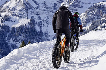 Fatbikes in the snow