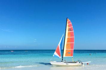 cuba beach boat