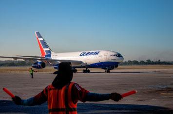 cuba plane departure