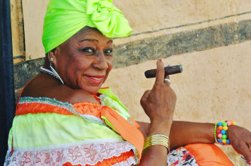havana cigar woman