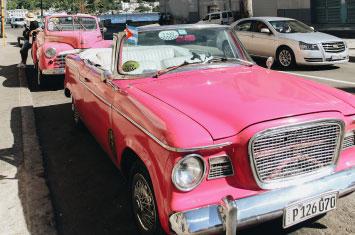 cuba havana pink car