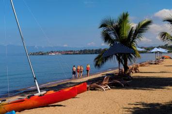 beach lake kivu