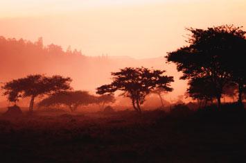 rwanda sunset