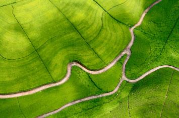rwanda aerial view