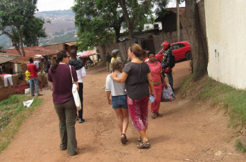 kigali suburb walking